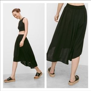 Aritzia talula black Chouette high low skirt